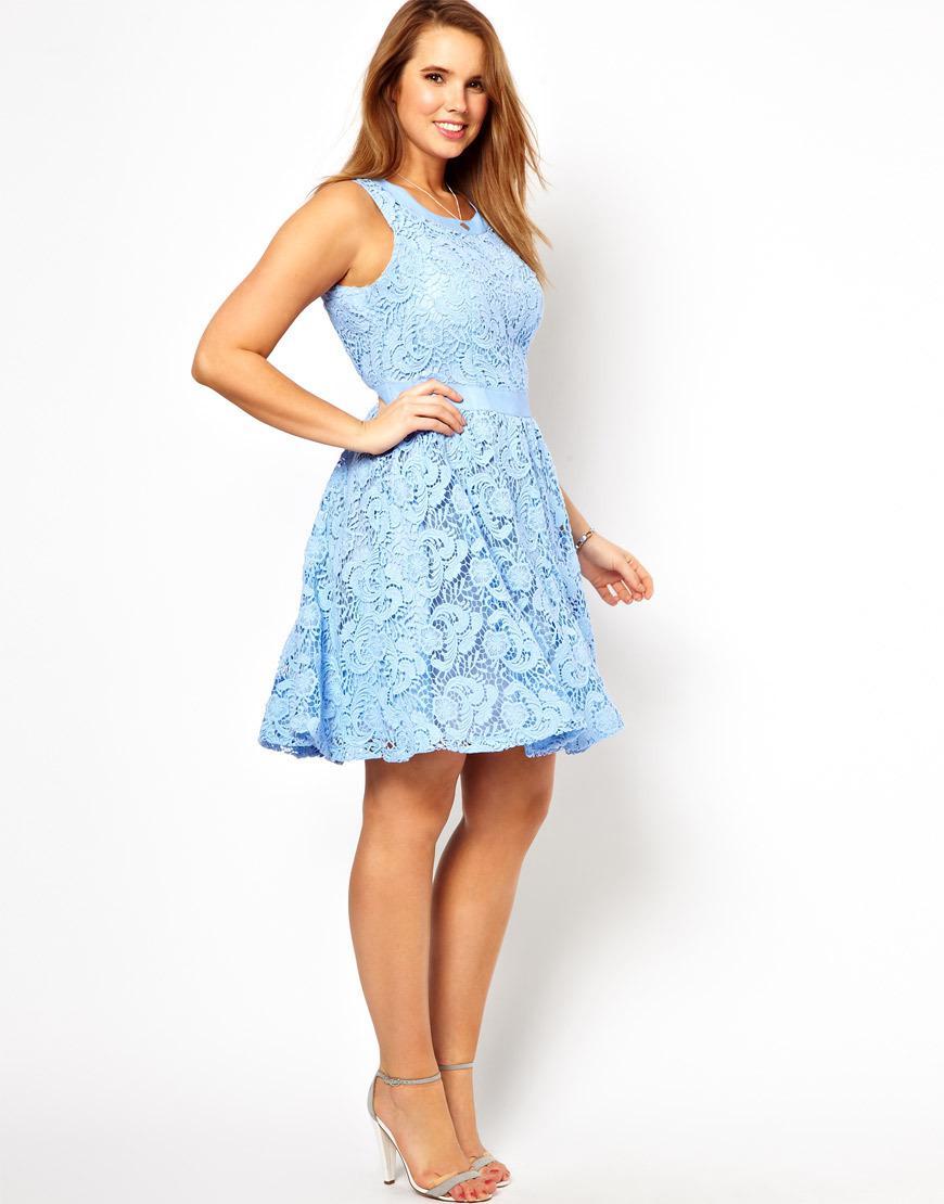 Light blue dress plus size « Dress lady style