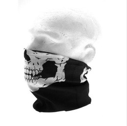 Wholesale Tube Hood - Motorcycle bicycle outdoor sports Neck Tube Face Mask Skull Mask Full Face Head Hood Protector top sale free shipping