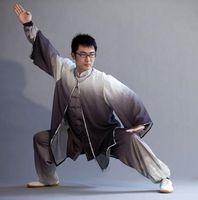 ropa wushu al por mayor-Chino Tai chi ropa Kungfu uniforme Qigong kimono tres piezas prendas taiji traje ropa wushu para hombres mujeres niño niña niños niños