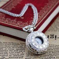 Wholesale Silver Costume Watches - Costume jewelry fashion design silver color pocket watch