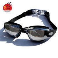 ücretsiz yüzme gözlükleri toptan satış-Profesyonel dalış gözlük yüzme gözlükleri miyopi özel teklif ücretsiz kargo kaplama UV su sis gözlük unisex