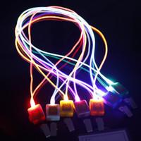 Wholesale novelty fiber optic - LED Novelty Lighting LED Lanyard Light LED Fiber Optic LED Light Lanyard Work Card Lanyard Rope Light Smile Face LED Lanyard + Card Clip New