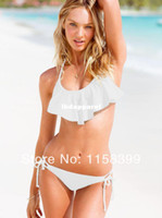 Wholesale Strapless White Fringe Bikini - Wholesale-Available size:S-XXL,Beauty Women Favor Padded Boho Fringe Top Strapless Bikini set Swimsuit Top and Bottoms Swimwear!DM055