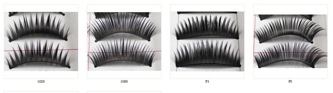 Mooi make-up gemengde stijl zwarte valse wimpers