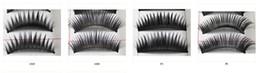 Wholesale Branded Eyelash Boxes - Brand New 10Pairs box Beautiful Make Up Mixed Style Black false eyelashes