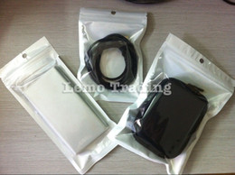 Wholesale Charger Retail Packing - 8cm*14cm Clear+White Plastic Zipper Retail Package Bag For Data Cable Car Charger Cell Phone Accessories Packing Bag 5000pcs lot