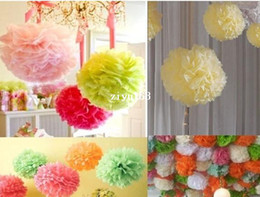 "Wholesale Party Decorations Tissue Ball - 20 pc 4"" Tissue Paper Pom Poms Flower Balls Wedding Party Shower Decoration"