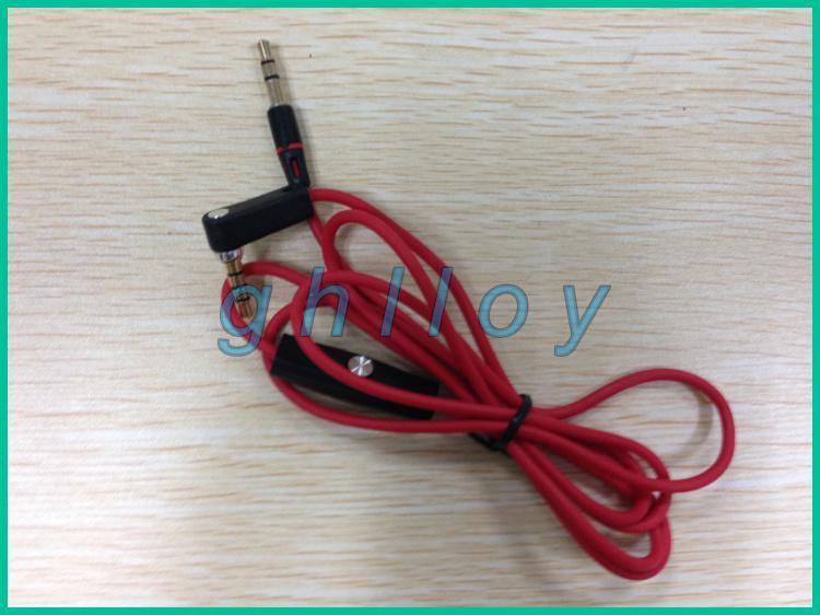 Roter 3.5mm Mann zum männlichen Rekordauto-Zusatzaudiokabelkopfhörer schließen Kabel für Kopfhörer 100pcs / lot an