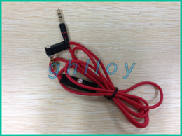 Wholesale Recording Cables - Red 3.5mm Male to Male Record Car aux Audio Cord headphone connect Cable For Headphone 100pcs lot