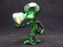 Tubi di vetro verde Tubi di fumo Tubi di vetro straniero di alta qualità e bel design da tubo fumo alieno verde fornitori
