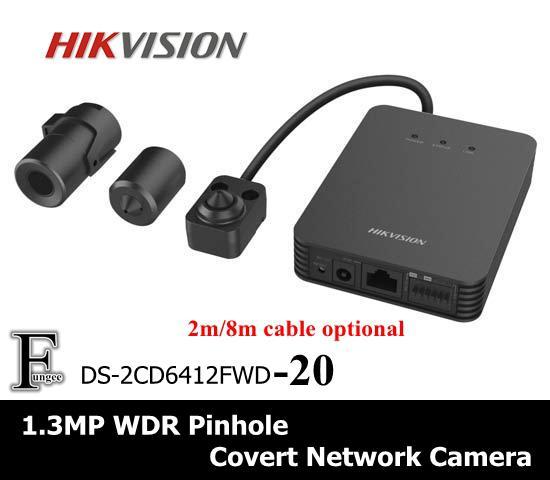Multilingue! Hikan DS-2CD6412FWD-20 1.3MP 960P POE WDR IP 2.8mm Objectif Mini-sténopé Covert Surveillance Réseau Caméra IP CCTV en option