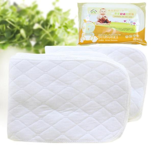 best selling 20pcs 3 Layers Antibacterial Bamboo fiber Baby Diaper pad Cloth Diaper Inserts Diaper Liners Free Shipping