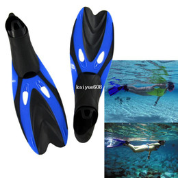 Wholesale Swimming Fins Snorkeling - Hot Sale New Short Design Snorkeling Flipper Submersible Fins Swimming Supplies Snorkel Blue TK1020