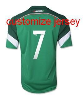 ba2c911ad93 ... wholesale 17 18 mexico 2014 mexico world cup home 7 miguel layun soccer  jerseys football shirts