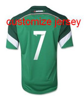 Wholesale Wholesale Name Jerseys - 2014 Mexico World Cup Home 7 Miguel Layun Soccer Jerseys Football Shirts ,Mexico 2014 Home And Away Jersey Can Customize Any Name And Number