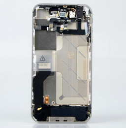 Wholesale Iphone New Bezel - Freeshipping!!New middle frame full parts assembly bezel housing middle frame chassis for iPhone 4S Silver Have the test