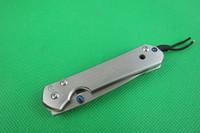 couteaux achat en gros de-Offre spéciale Chris Reeve Sebenza 21 petits couteaux CR Couteaux pliants 5CR15 58HRC fraisage CNC mercerisé poignée 120g