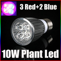 Wholesale Grow Lights Rgb - E27 10W Plant Led Grow Light Lamp Bulb 3 Red 2 Blue For Flowering Plant and Hydroponics System 85-265V High Quality Led Lightin