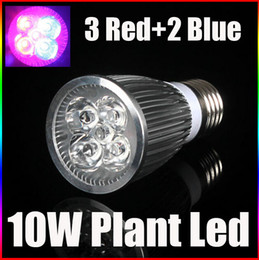 Wholesale Cree Growing Light - E27 10W Plant Led Grow Light Lamp Bulb 3 Red 2 Blue For Flowering Plant and Hydroponics System 85-265V High Quality Led Lightin