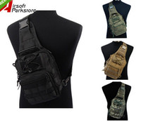 Wholesale Molle Utility Shoulder - 1000D Army Tactical Chest Pack Molle Single Backpack Motorcycle Ride Bicycle Utility 3 Ways Shoulder Bag Outdoor Sports
