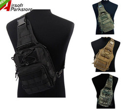 Wholesale Molle Pack Bag Backpack - 1000D Army Tactical Chest Pack Molle Single Backpack Motorcycle Ride Bicycle Utility 3 Ways Shoulder Bag Outdoor Sports