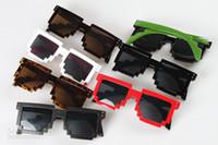 Wholesale Gamer Sunglasses - 8 colour Mosaic sunglasses Code Programmer Pixelated 8-Bit Black Sunglasses CPU Gamer Geek ABC90 100pcs fast delivery