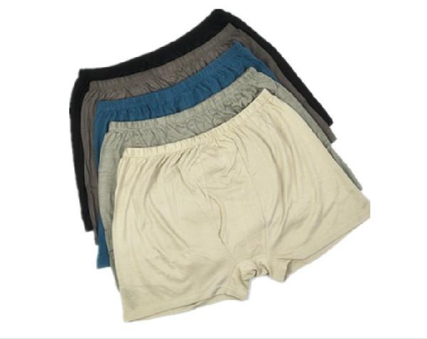Herren Knitting Silk Panties Mulberry Seide atmungsaktiv nahtlose Boxershorts L XL XXL