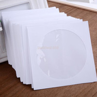 Wholesale Dvd Casing - 2014 New Arrival 100 PCS Protective White Paper CD DVD Disc Storage Bag Case Envelopes Flap Suit for CD Paper Sleeve #2 SV004009