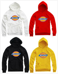 Wholesale men dickies - Free shipping 2016 fashion pullover dickies Hoodies Sweatshirts for spring autumn winter thicker unisex fleece hoodie brand new hoody 9color