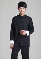 top estilo chino tradicional al por mayor-Historia de Shanghai chino traje de espiga superior ropa tradicional china para hombres collar mandarín camisa china