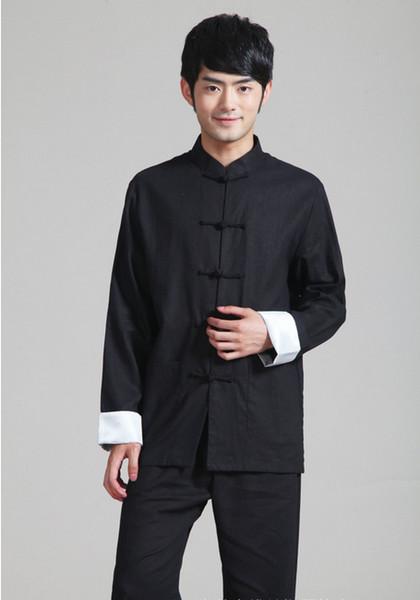 Linguetta cinese di stile di storia di Shanghai Story vestito superiore cinese tradizionale per la camicia cinese del collare del mandarino degli uomini