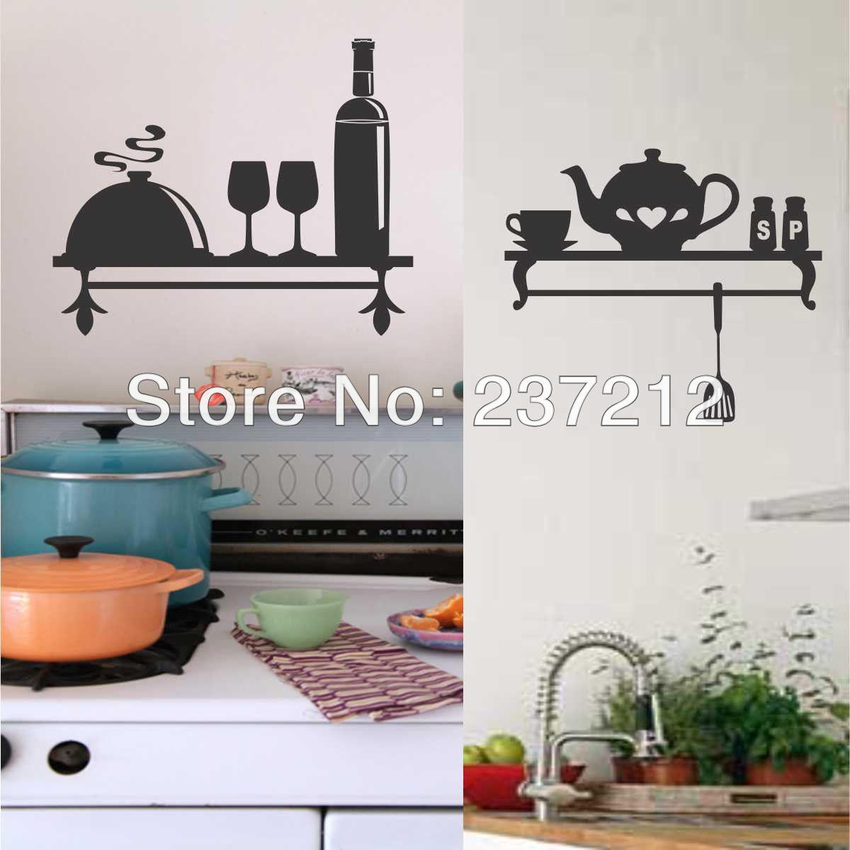 Kitchen Wall Decal Decorative Vinyl Shelf Indoor Lettering Teapot Wine  Choice Wall Stickers Wall Deals Wall Decal From Baby_helene, $13.05|  Dhgate.Com