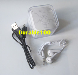 Wholesale Mini Clip Mp3 Player Box - Accessories for Mini clip MP3 players 5Pin USB Cables+Earphones+Crystal Box no mp3 included 50pcs lot free shipping