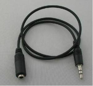 Toptan 500 adet / grup siyah 1.1 M Stereo Ses Uzatma Kablosu 3.5mm Erkek Kadın Ücretsiz kargo