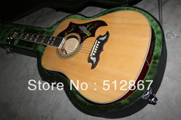 Wholesale E Acoustic Guitar - Free shipping Acoustic guitar with E-Q new Very beautiful electric guitarWith case
