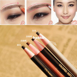 Wholesale Order Black Powder - Wholesale-(Minimum Order $10) New 4 Colors Long Lasting Eyebrow Pencil Eye Brow Pen Dark Light Dark Coffee Black