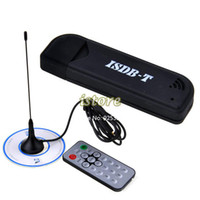 Wholesale Isdb Tv Receiver - 2014 New KDQ2 Mini USB 2.0 Digital ISDB-T HDTV TV Stick Tuner Receiver Remote SPC-1958 +Extra powerful antenna 19625