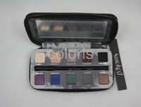 Wholesale Eye Shadow Primer Potion - Smoked Eye Shadow 10 Colors Eyeshadow With Pencil And Primer Potion ( 1 Pcs Lot)
