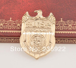 Wholesale Wholesale Supplies For Jewelry - Wholesale-20pcs lot Wholesale Hot NCIS Badge Full Size Metal Special Agent Badge Brooch Jewelry For Men and Women,original factory supply