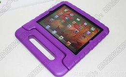 Wholesale Purple Ipad Covers - New EVA Foam innoxious material Children Kids Shockproof Protection Protective Case Cover for iPad 2 3 4 and iPAD AIR Portable case cute