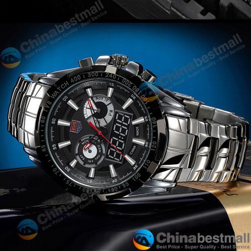 TVG Sports City Hunter Led Pointer orologio da polso al quarzo Moda uomo 30AM impermeabile Dual Time uomo orologi militari con luminoso