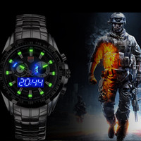 Wholesale Hunter Sports - TVG Sports City Hunter Led Pointer Quartz Wristwatch Men Fashion 30AM Waterproof Dual Time man Military Watches with Luminous