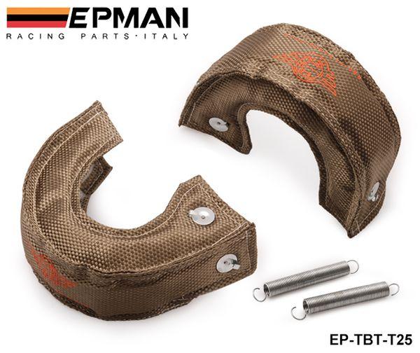 top popular High Quality T25 T28 GT25 GT28 GT30 GT35 Turbo   Turbocharger Titanium Heat Shield   Wrap Blanket EP-TBT-T25 2021