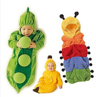 Wholesale baby boys and girls sleeping bags the caterpillar peas style clothes