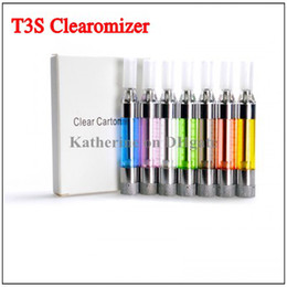 Wholesale Ego Update - T3S Clearomizer Colorful Atomizer Replaceable Filter Changeable Coil for Ego Series E cigarette Cig Electronic cigarette T3 Update Version
