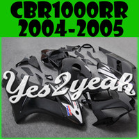 Wholesale Honda Cbr Gifts - Yes2yeah Injection Mold Fairing For Honda CBR1000RR CBR 1000 RR 2004 2005 04 05 Silver Black H14Y69+ 5 Free Gifts