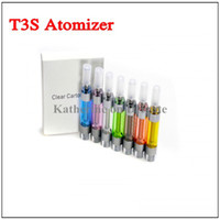Wholesale Ce4 Atomizer Changeable Coil Ego - T3S Atomizer Clearomizer Replaceable Filter Changeable Coil for Ego Series E-cigarette Electronic cigarette CE4 CE5 CE6 T3 Update Version