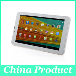 Chinese  7 inch Phablet Phone Call Dual Core MTK6572 3G WCDMA android 4.2 GPS bluetooth Dual Camera Dual Sim Card 512M 4G 002292 manufacturers