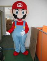 Wholesale Super Mario Costume Make - Mario Mascot Costume Adult Size Cartoon Super Mario Mascot Costume Fancy Mascot Costumes