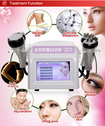 Wholesale Ultrasonic Body Shaping - 5 In 1 Beauty Equipment Salon Home Use RF Vacuum Cavitation Ultrasonic Lipolysis Fat Reduction Slimming machine to Body Shaping Weight Lose